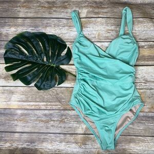 J Crew Rouched One Piece Bathing Suit